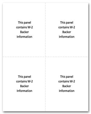 W-2, Laser, 4-up Condensed, Blank w/Instructions for 2017 | 82668 ...